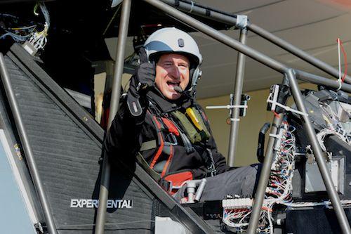 André Borschberg, deuxième pilote du Solar Impulse HB-SIA
