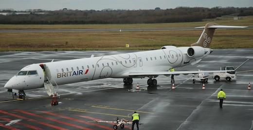 Embarquement sur l'aéroport de Brest
