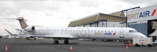 Le premier CRJ1000 NextGen livré par Bombardier à Britair sera le seul à porter la livrée de la compagnie. Les 13 autres seront aux couleurs d'Air France.