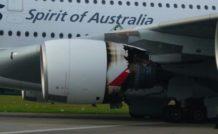 Le réacteur N°2 de l'A380 VH-OQA de Qantas