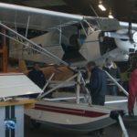 Le PA18-150 de l'aéro-club Henri Guillaumet dans l'atelier d'ARS à Dijon-Darois