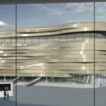 Le futur bâtiment de liaison entre les terminaux 2A et 2C de Paris-CDG, se singularisera par son architecture externe futuriste composée de rubans métalliques.