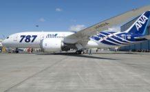 La nouvelle livrée du premier 787 d'ANA