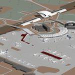 Le Terminal T3 est implanté au milieu du parking avion