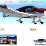 Un aperçu de la gamme de New Robin Aircraft sur la page d'accueil du site de la nouvelle société créée en 2011