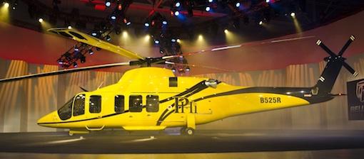 Une mise en scène hollywoodienne pour dévoiler le Bell 525 Relentless à Heli-Expo 2012