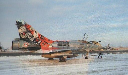 Le Tigre 2009 sous la neige qui recouvre la BA103 de Cambrai
