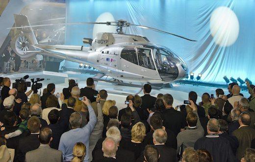 L'EC130 T2 présenté par Eurocopter au salon Heli-Expo 2012