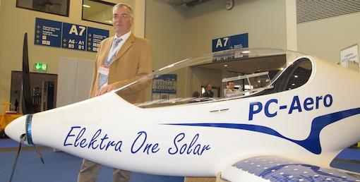 Calin Gologan, le concepteur de l'Elektra One Solar, promet un coût réduit à moins de 35 € l'heure de vol.