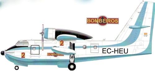 Canadair CL215 des pompiers volants portugais