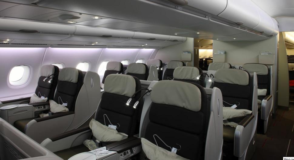 J ai pris le dernier vol d 39 air france en a380 paris for Air france interieur classe economique
