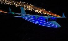 Le Tecnam P2006T au-dessus du stade olympique de Londres 2012