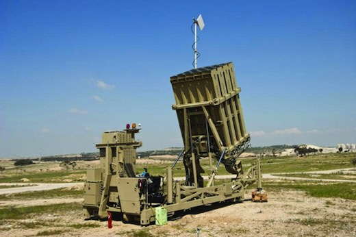 Les cinq systèmes Iron Dome déployés en Israel auraient contré plus de 400 roquettes.