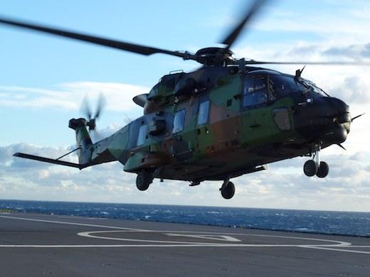 Malgré sa jeunesse, le Caïman s'est bien comporté en milieu marin ; les pilotes apprécient sa motorisation, son casque HMSD et ses commandes de vol électriques.
