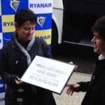 Le 100.000ème passager Ryanair à Tarbes-Lourdes