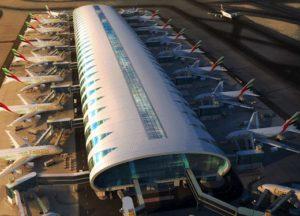 Le Terminal 3 de l'aéroport de Dubai et ses 20 portes d'embarquement destinées exclusivement aux Airbus A380 d'Emirates Airlines