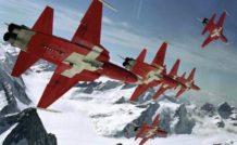 La patrouille aérienne suisse porte fièrement les couleurs de la confédération helvétique dans le ciel européen