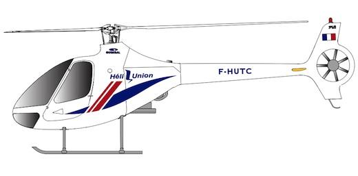Le Cabri G2 d'Hélicoptères Guimbal aux couleurs d'Héli-Union