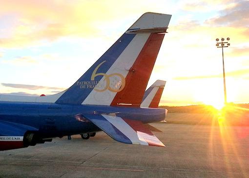 Le logo officiel du 60ème anniversaire peint sur les dérives des Alphajets accompagnera la patrouille 2012 tout au long de la saison des meetings.