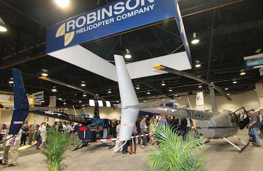 Robinson Helicopter a produit 517 hélicoptères en 2012, soit 45% de plus qu'en 2011