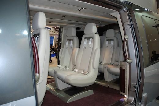 L'EC175 dans sa version VIP se décline en trois modèles différents, accueillant chacun six à huit passagers.