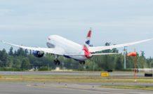 2. Le premier 787 de British Airways est équipé en trois classes (1ère : 34 sièges, Business : 25, et Eco : 154).