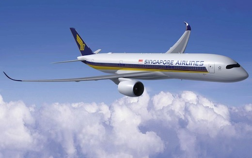 Singapore Airlines totalise 70 commandes fermes d'A35XWB