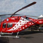 2. Bell 429 d'Air Zermatt sur le stand Textron au salon du Bourget