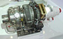 L'e-APU60 de Microturbo sur le stand Safran au salon du Bourget 2013
