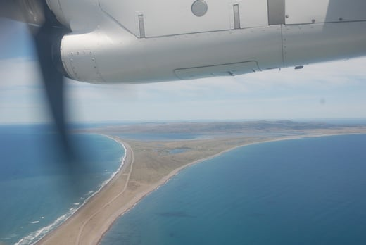 L'archipel de Saint-Pierre-et-Miquelon vu de l'ATR42-500 d'Air Saint-Pierre