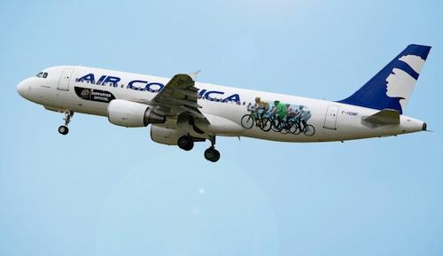 2. Air Corsica transporteur et supporteur officiel du Tour de France 2013