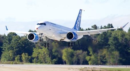 Le vol inaugural du Bombardier CSeries constituait également le premier vol du nouveau moteur Geared TurbofanMC PurePower 1500G de Pratt & Whitney dans le cadre d'un programme d'homologation d'un avion.