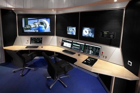 La salle de contrôle du banc d'essais WESTT BR de Price Induction