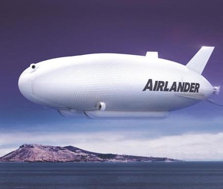 Airlander 50 : un projet d'un dirigeable propulsé par quatre moteurs de 10.000 ch et offrant une distance franchissable de près de 5.000 kilomètres.