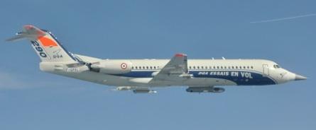 Un des premiers vols avec l'ensemble des charges externes et le nez du Rafale.