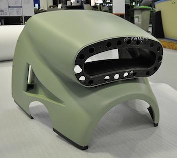 La pointe avant du TBM900 redessinée est produite dans l'usine Daher de St-Julien-de-Chédon (41)