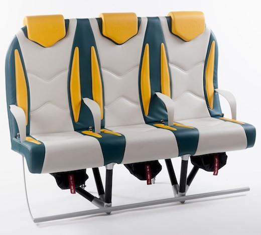 Le siège Titanium d'Expliseat se caractérise par sa structure tubulaire en matériaux composites et titane.