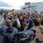 Une cinquantaine de journalistes parisiens avaient fait le déplacement jusqu'à Bordeaux-Mérignac pour voir évoluer l'E-Plane