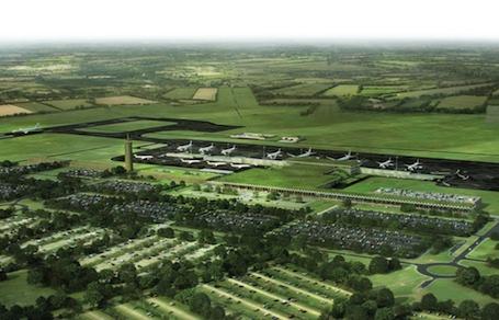 Vision d'artiste de l'aéroport du Grand-Ouest (Notre-Dame-des-Landes).