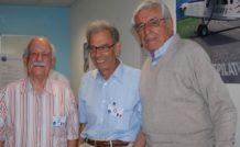 1. Mira Slovak (à droite) en compagnie de René Fournier (au centre) et de Bernard Chauvreau, réunis à Gap, en 2007, par le Club Fournier International