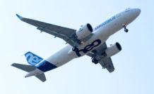 L'A320neo équipé des moteurs PW1100G-JM de Pratt & Whitney a effectué son premier vol le 25 septembre 2014.
