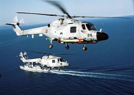 Hélicoptères Lynx de la Marine Nationale