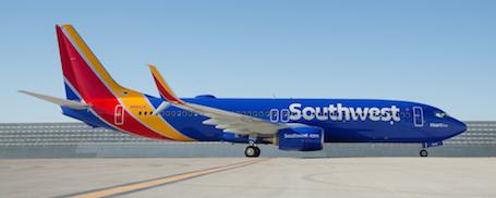 La nouvelle livrée des 737 de Southwest