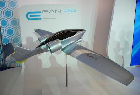 L'E-Fan 2.0, avion-école biplace côte-à-côte électrique, devrait être certifié CS-VLA avant fin 2017.