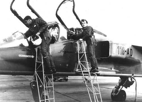 Essai en vol du Jaguar dans le cadre d'un reportage