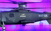 Le S-97 de Sikorsky lors de sa première apparition officielle en octobre 2014