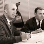 André Turcat et Henri Perrier qui dirigea les essais en vol du programme Concorde