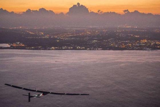 L'arrivée de Solar Impulse 2 à Hawaï, le 3 juillet 2015