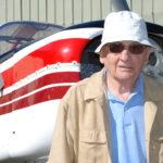Jean Délémontez, en 2008, à l'occasion d'un rassemblement organisé pour les cinquante du premier vol du D140 Mousquetaire