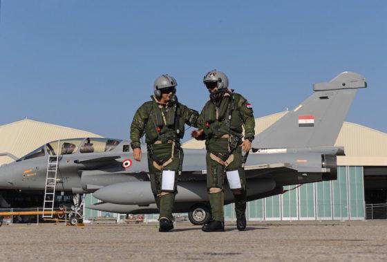 Les premiers pilotes égyptiens de Rafale ont été formés en France par l'Armée de l'Air française